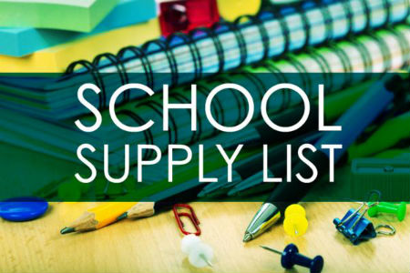 West School Supply Lists 20-21