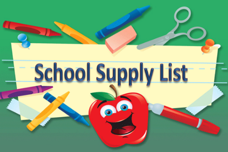 18-19 East School Supply Lists